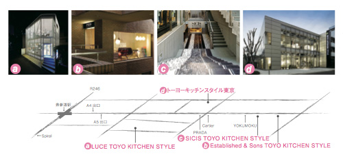 LUCE TOYO KITCHEN STYLE Map